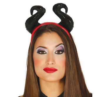 HALLOWEEN headband BLACK HORNS