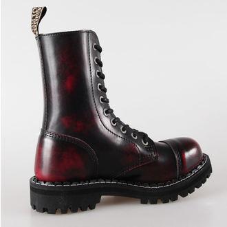 leather boots women's - STEEL - 105/106 Red Black-Burgund