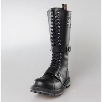 leather boots women's -, STEEL