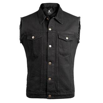 Men's vest CAPRICORN ROCKWEAR - black with frayed arms - CAP006