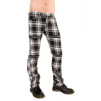 pants women Black Pistol - Destroy Pants Tartan (Black / White) - B-1-20-060-01