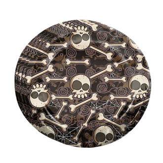 Paper Party Plates HALLOWEEN BONE