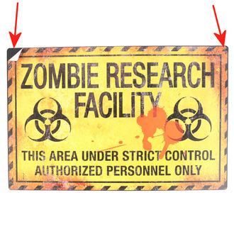 signs Zombie Research Facility - D2677G6 - DAMAGED, NNM