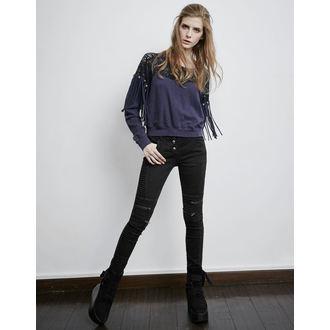 women's trousers PUNK RAVE - Black Wire, PUNK RAVE