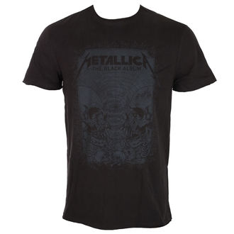 t-shirt metal men's Metallica - THE BLACK ALBUM - AMPLIFIED, AMPLIFIED, Metallica