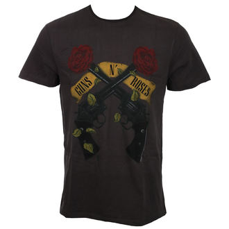 t-shirt metal men's Guns N' Roses - SHOOTING ROSES - AMPLIFIED, AMPLIFIED, Guns N' Roses