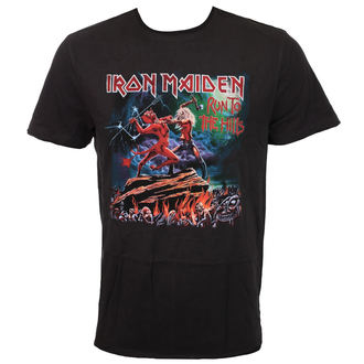 t-shirt metal men's Iron Maiden - RUN TO THE HILLS - AMPLIFIED, AMPLIFIED, Iron Maiden