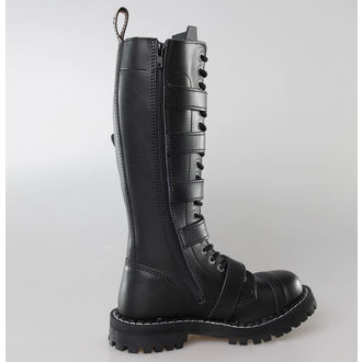 leather boots women's - STEEL - 139/140 BLACK 5P