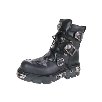 boots leather - Cross Shoes (407-S1) Black-Grey - NEW ROCK - M.407-S1