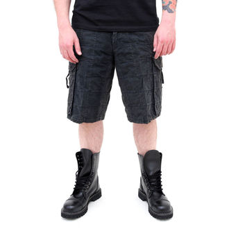 shorts men SURPLUS - Checkboard - BLACK, SURPLUS