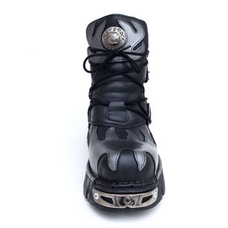 boots leather - Flame Shoes (288-S2) Black-Grey - NEW ROCK, NEW ROCK