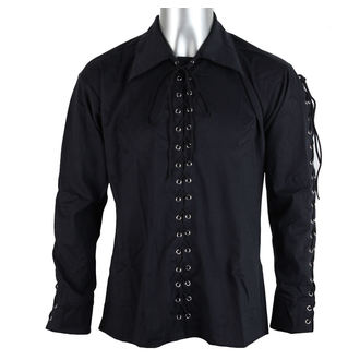 shirt men Black Pistol - Eyelet Shirt Denim Black - B-3-07-001-00