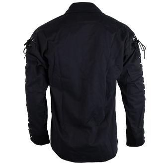 shirt men Black Pistol - Eyelet Shirt Denim Black - B-3-07-001-00
