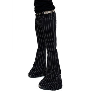 pants women Mode Wichtig - Flares Pin Stripe Black-White, MODE WICHTIG