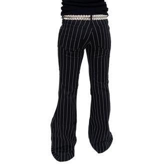 pants women Mode Wichtig - Flares Pin Stripe Black-White - M-1-08-050-01