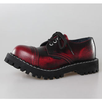 leather boots women's - STEEL - 101/102 Red Black-Burgund