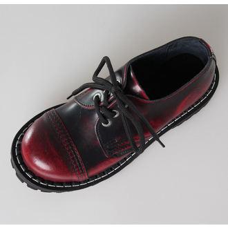 leather boots women's - STEEL - 101/102 Red Black-Burgund