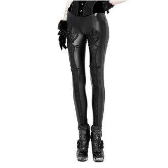 Women's trousers (leggings) PUNK RAVE - Black Soiree Gothic, PUNK RAVE
