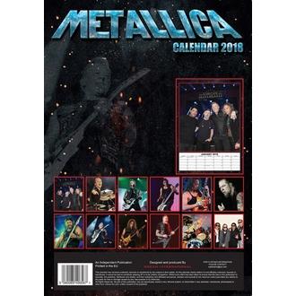 calendar to year 2018 METALLICA, Metallica