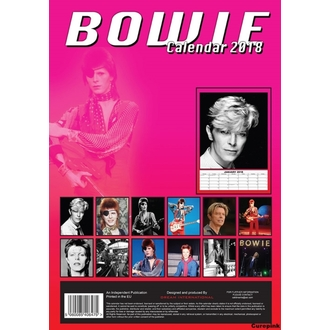 Calendar to year 2018 DAVID BOWIE, David Bowie
