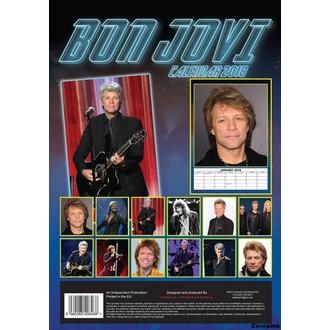calendar to year 2018 BON JOVI, Bon Jovi