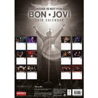 Wall Calendar 2018 BON JOVI, Bon Jovi