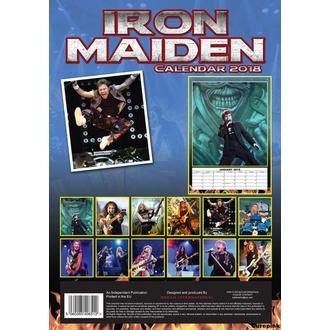 Calendar to year 2018 IRON MAIDEN, Iron Maiden