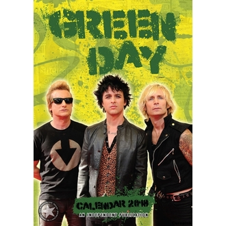 Calendar to year 2018 GREEN DAY, Green Day