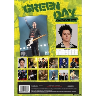 Calendar to year 2018 GREEN DAY, NNM, Green Day
