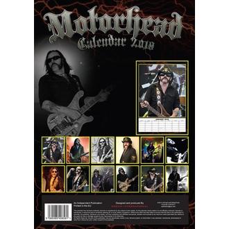 Calendar to year 2018 Motörhead, Motörhead