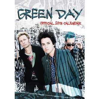 Wall calendar 2018 GREEN DAY, NNM, Green Day