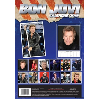 Calendar for year 2019 - Bon Jovi, NNM, Bon Jovi