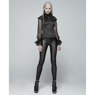 Women's trousers (leggings) PUNK RAVE - Slasher - WK-342 BK