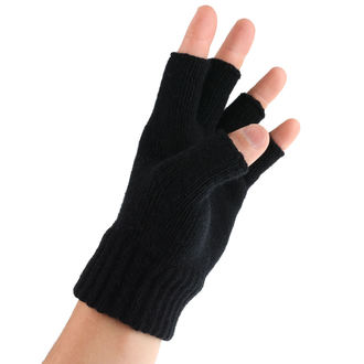 gloves fingerless AC/DC - Logo - RAZAMATAZ