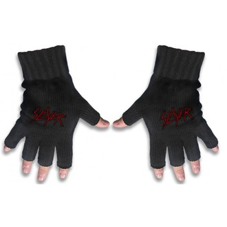gloves fingerless Slayer - Logo 1, RAZAMATAZ, Slayer
