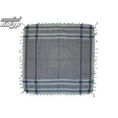 kerchief ARAFAT - palestine - blue and white 1