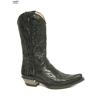 boots leather - Flame Biker (7921-S1) Black - NEW ROCK, NEW ROCK