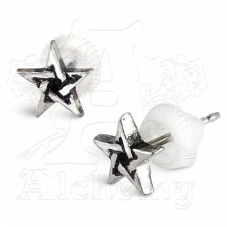 earrings Pentagram Studs E164 - Alchemy Gothic