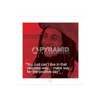 poster Bob Marley (I.Quote - Positive Day) - Pyramid Posters, PYRAMID POSTERS, Bob Marley