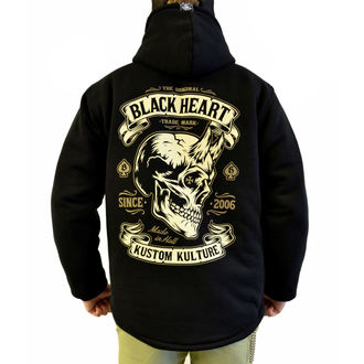 spring/fall jacket - DEVIL SKULL LINED - BLACK HEART
