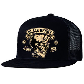 cap BLACK HEART - DEVIL SKULL - BLACK - 022-0048-BLK