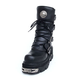 boots leather - Basic Boots (373-S4) Black - NEW ROCK, NEW ROCK