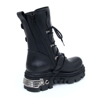 boots leather - Basic Boots (373-S4) Black - NEW ROCK - M.373-S4