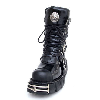 boots leather - Bizarre Boots (313-S1) Black - NEW ROCK, NEW ROCK