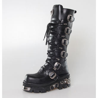 boots leather - 6-Buckle Boots (272-S1) Black - NEW ROCK, NEW ROCK