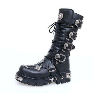 boots leather - Cross Boots (403-S1) Black - NEW ROCK - M.403-S1