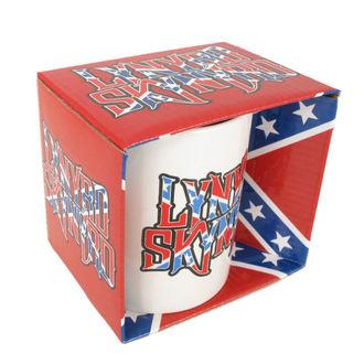 cup Lynyrd Skynyrd - Confederate logo WHT, ROCK OFF, Lynyrd Skynyrd