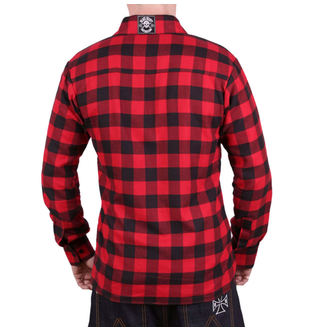 Shirt Men's BLACK HEART - REDNECK - RED, BLACK HEART
