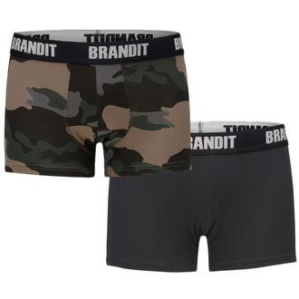 Men's boxer shorts (set 2 pieces) BRANDIT - 4501-dk.camo+black