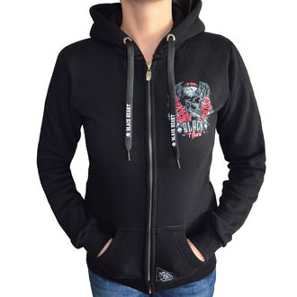 hoodie women's - DEVIL ROSE - BLACK HEART, BLACK HEART